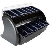 San Jamar BDS4206 Dome Stacker Mini Dome 12-Compartment Two Tier Condiment Bar