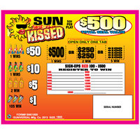 Sun Kissed 5 Window Pull Tab Tickets - 1800 Tickets Per Deal - Total Payout: $675