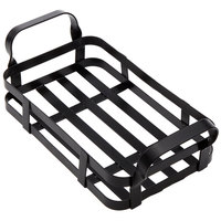American Metalcraft BWC9 Black Rectangular Condiment Caddy - 9 inch x 6 inch x 3 1/2 inch
