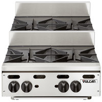 Vulcan VHP424U Natural Gas 24 inch 4 Burner Step Up Countertop Range - 120,000 BTU