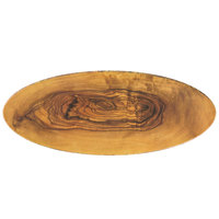 American Metalcraft OWM25 25 1/2 inch x 10 1/2 inch Olive Wood Oval Melamine Serving Board