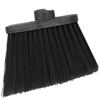 Carlisle 3686803 Duo-Sweep Heavy-Duty Angled Broom Head with Unflagged Black Bristles - 12/Case
