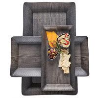 American Metalcraft WMEL23 18 inch x 8 1/4 inch Rectangular Walnut Melamine Platter