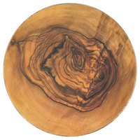 American Metalcraft OWM14 13 3/4 inch Olive Wood Round Melamine Serving Board