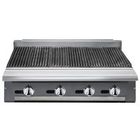 Vulcan VCBB48-LP V Series Liquid Propane 48 inch Radiant Gas Modular Charbroiler - 130,000 BTU