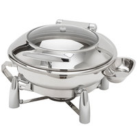 American Metalcraft REVLRD20 Evolution 7 Qt. Round Stainless Steel Induction Chafer - 20 1/2 inch x 20 inch x 12 inch