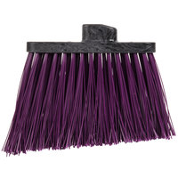 Carlisle 3686868 Duo-Sweep Heavy-Duty Angled Broom Head with Unflagged Purple Bristles