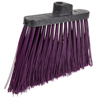 Carlisle 3686868 Duo-Sweep 12 inch Heavy Duty Angled Broom Head with Purple Unflagged Bristles