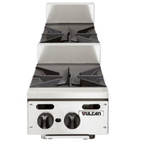 Vulcan VHP212U Liquid Propane 12 inch 2 Burner Step Up Countertop Range - 55,000 BTU