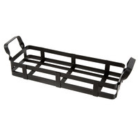 American Metalcraft BWC12 Black Rectangular Condiment Caddy - 12 3/4 inch x 4 3/8 inch x 3 1/2 inch