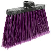 Carlisle 3686768 Duo-Sweep Medium Duty Angled Broom Head with Flagged Purple Bristles