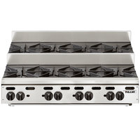 Vulcan VHP848U Natural Gas 48 inch 8 Burner Step Up Countertop Range - 240,000 BTU