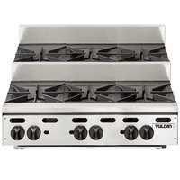 Vulcan VHP636U Natural Gas 36 inch 6 Burner Step Up Countertop Range - 180,000 BTU