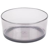 Carlisle MIN544618 Mingle 5 Qt. Smoke Tritan Plastic Serving Bowl - 4/Case