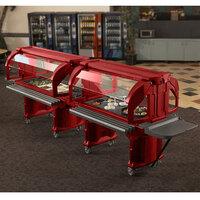 Cambro VBRHD5158 Hot Red 5' Versa Food / Salad Bar with Heavy Duty Casters