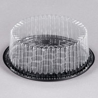 D&W Fine Pack G22-1 8 inch 1-2 Layer Cake Display Container with Clear Dome Lid - 160/Case