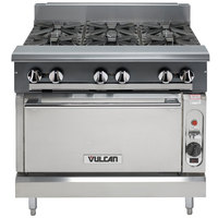Vulcan V6B36C-NAT V Series Natural Gas 6 Burner 36 inch Heavy-Duty Range with Convection Oven - 230,000 BTU
