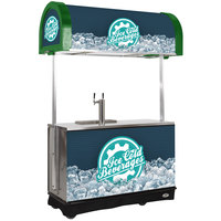IRP RDC-2 Green Refrigerated Mobile Draft Cart with Illuminated Canopy - (2) 1/2 Keg