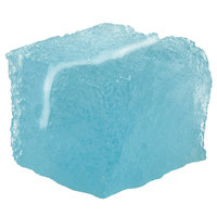 American Metalcraft ICEBU 1 1/4 inch Blue Acrylic Ice-Shaped Card Holder