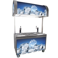 IRP 2060 IDC Gray Ice Down Mobile Draft Cart with Illuminated Canopy - (2) 1/2 Keg