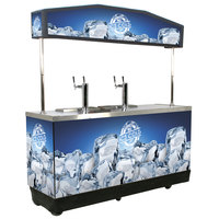 IRP Draft Elite Refrigerated Mobile Draft Cart with Illuminated Canopy - (4) 1/2 Kegs