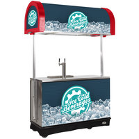 IRP RDC-2 Red Refrigerated Mobile Draft Cart with Illuminated Canopy - (2) 1/2 Keg