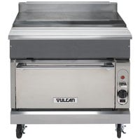 Vulcan VWT36C-LP V Series Liquid Propane 36 inch Spreader Cabinet with Convection Oven - 32,000 BTU
