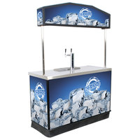 IRP Draft Elite Refrigerated Mobile Draft Cart with Illuminated Canopy - (2) 1/2 Kegs