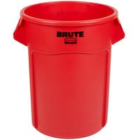 Rubbermaid FG265500RED BRUTE Red 55 Gallon Trash Can