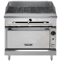 Vulcan VTC36C-NAT Natural Gas 36 inch Gas Floor Model Infrared Charbroiler with Convection Oven Base - 98,000 BTU