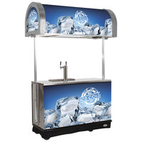 IRP RDC-2 Gray Refrigerated Mobile Draft Cart with Illuminated Canopy - (2) 1/2 Keg