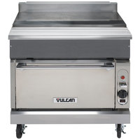 Vulcan VWT36C-NAT V Series Natural Gas 36 inch Spreader Cabinet with Convection Oven - 32,000 BTU