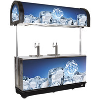 IRP RDC-4 Black Refrigerated Mobile Draft Cart with Illuminated Canopy - (4) 1/2 Keg