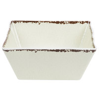 American Metalcraft AWMSQ94 4 Qt. Antique White Square Melamine Bowl
