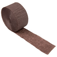 Creative Converting 073038 81' Chocolate Brown Streamer Paper - 12/Case