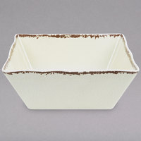 American Metalcraft AWMSQ117 Endurance 228 oz. Square Melamine Serving Bowl - Antique White