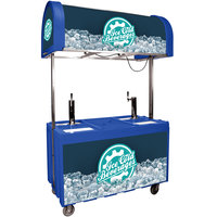 IRP 2060 IDC Blue Ice Down Mobile Draft Cart with Illuminated Canopy - (2) 1/2 Keg
