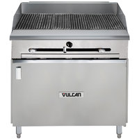 Vulcan VTC36B-NAT Natural Gas 36 inch Gas Floor Model Infrared Charbroiler with Cabinet Base - 66,000 BTU