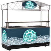 IRP MFC-K89 Package 89 inch Ice Down Mobile Cart with Canopy