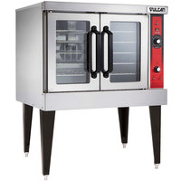 Vulcan VC4ED-480/1 Single Deck Full Size Electric Convection Oven with Solid State Controls - 480V, 1 Phase, 12.5 kW