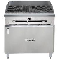Vulcan VTC36B-LP Liquid Propane 36 inch Gas Floor Model Infrared Charbroiler with Cabinet Base - 66,000 BTU