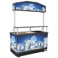 IRP C-030 Package Elite 62 inch Ice Down Mobile Cart with Illuminated Canopy