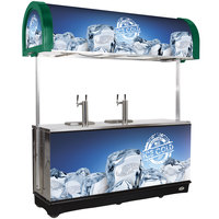IRP RDC-4 Green Refrigerated Mobile Draft Cart with Illuminated Canopy - (4) 1/2 Keg