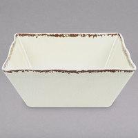 American Metalcraft AWMSQ53 Endurance 23 oz. Square Melamine Serving Bowl - Antique White