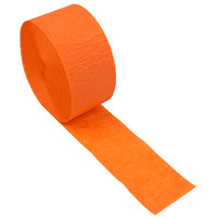 Creative Converting 078560 81' Sunkissed Orange Streamer Paper - 12/Case