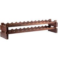 48 inch x 11 5/8 inch 2 Shelf Stackable Wooden Wine Rack
