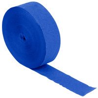 Creative Converting 319027 500' Cobalt Blue Streamer Paper - 12/Case