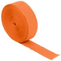 Creative Converting 076560 500' Sunkissed Orange Streamer Paper - 12/Case