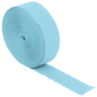 Creative Converting 076400 500' Pastel Blue Streamer Paper - 12/Case