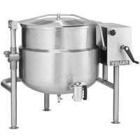 Vulcan K40DLT Direct Steam 40 Gallon Tilting 2/3 Steam Jacketed Kettle